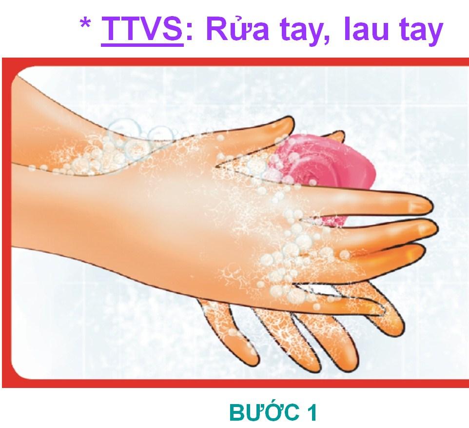 6 bước rửa tay